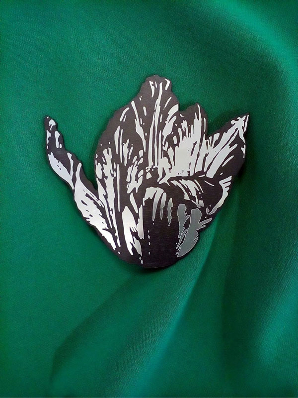 Брошь макси (10 см) Тюльпан