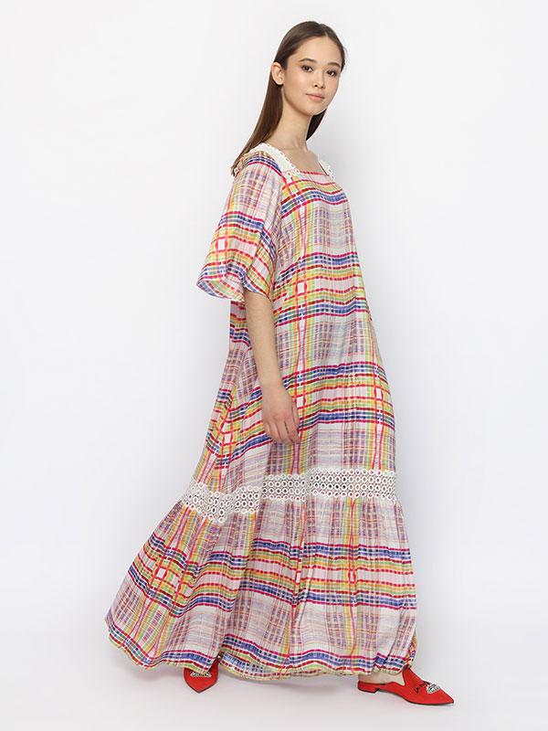 Платье Яркая клетка