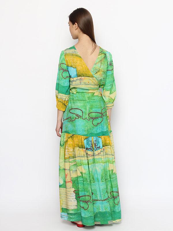 Платье с запахом Луга