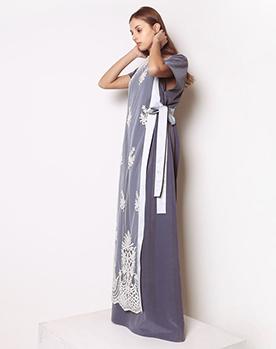 Вечернее платье в пол, расшитое жемчугом Жемчужина 2